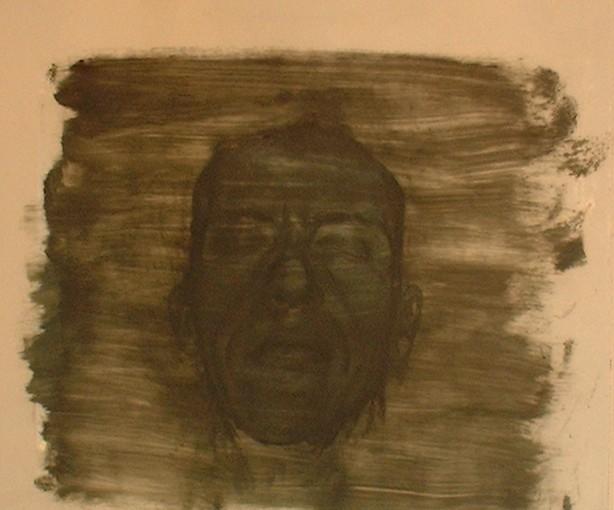 Autoportrait sur verre